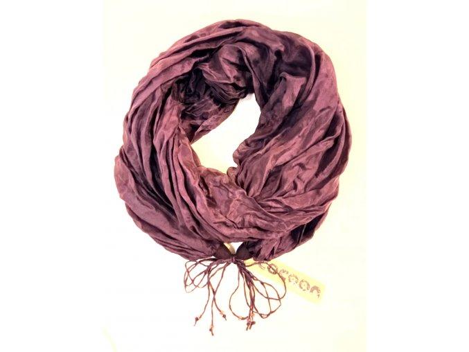 Hedvábný šál pastelově fialový