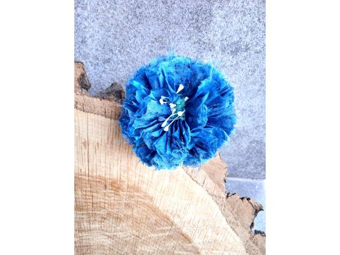Květ v modrých tónech