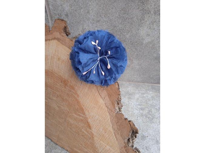 Květ středně modrý