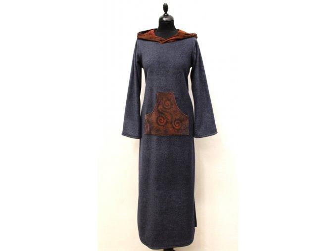 teplé dlouhé šaty