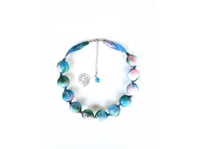 Vícebarevný kuličkový náhrdelník
