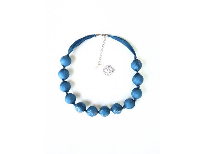 kuličkový náhrdelník petrolejové barvy