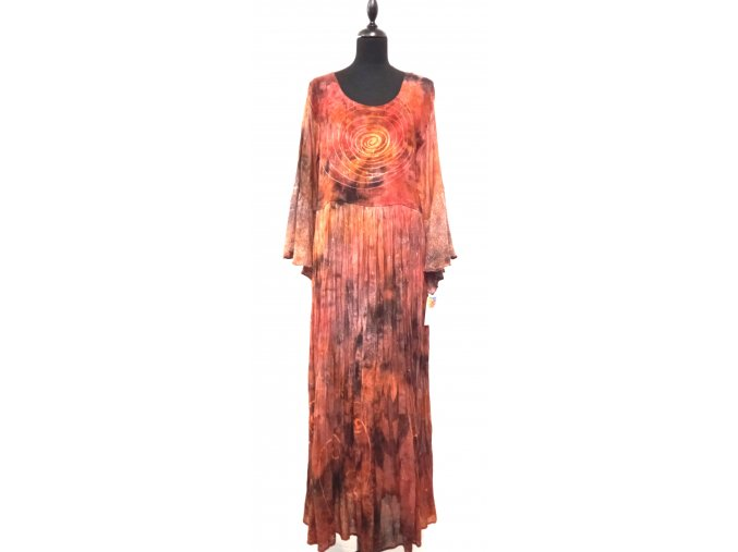 sedlové šaty s úpletovým volánem na rukávech