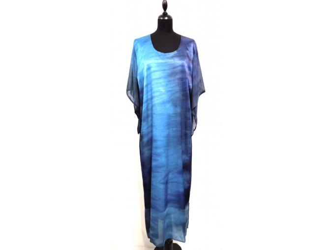 dlouhé saténové šaty
