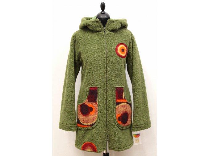 zateplený kabátek kruhy