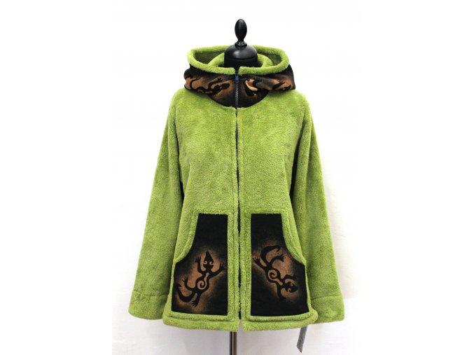 zelená bundička ješterky