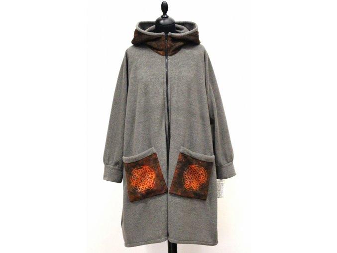 šedý kabátek květ života