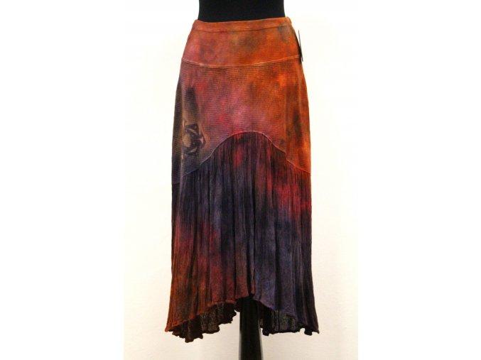 dlouhá sukně s volánem