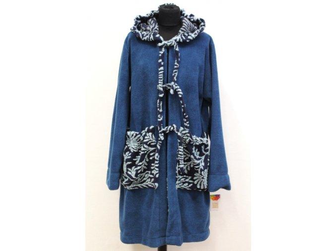 modrý flízový kabátek
