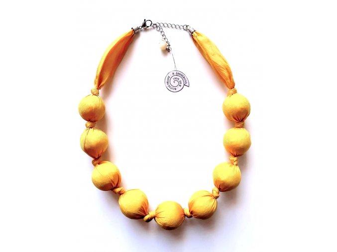 Žlutý kuličkový náhrdelník