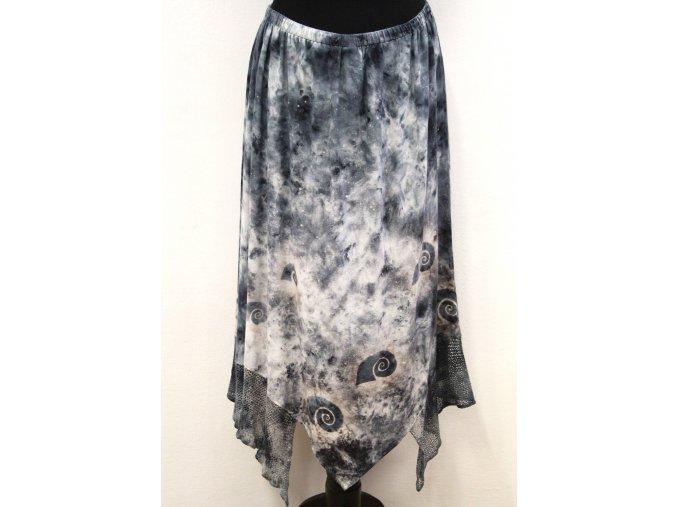 šedá cípatá sukně