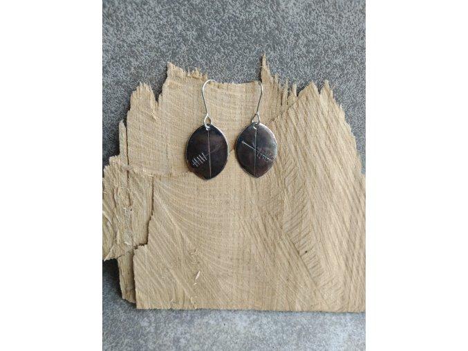 Nerezové náušnice ve tvaru listu