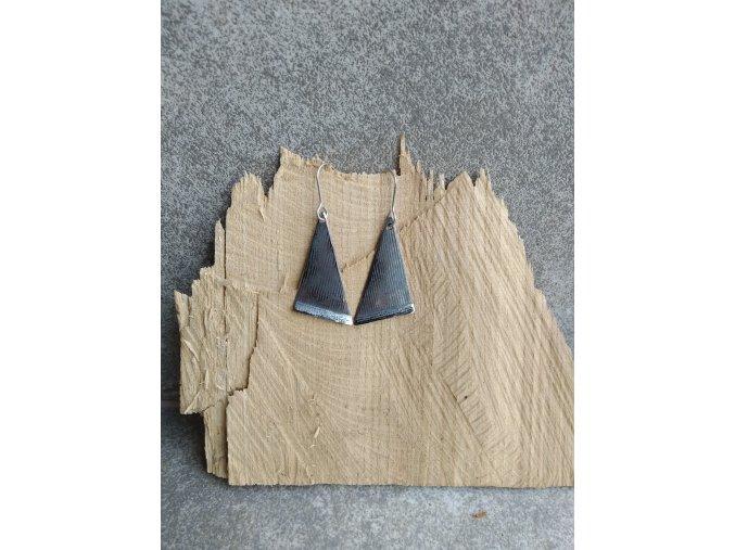 Nerezové náušnice trojúhelníkové