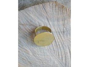 Kulatý prsten mosazný