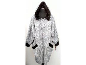 Šedý kabátek na zip