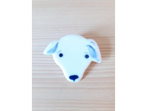 Porcelánová brož - psík