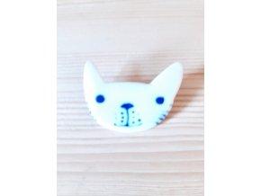 Porcelánová brož - kočka