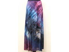 dlouhá fialovomodrá sukně