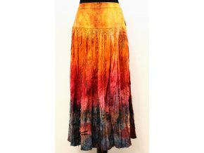 žluto oranžovo červeno modrá sukně