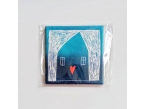 Malovaná dlaždice - Dům plný štěstí