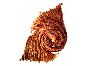 Hedvábný šál okrový