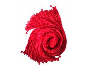 hedvábný šál rubínový