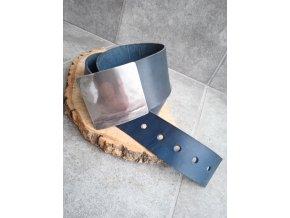 Kožený pásek modrošedý