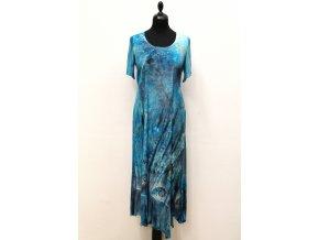 šaty tyrkysové ulitky