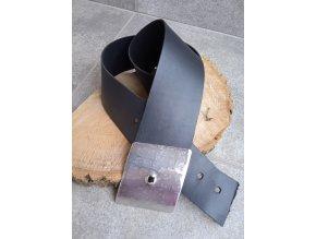 Kožený pásek černý širší