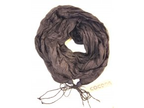 Hedvábný šál černý