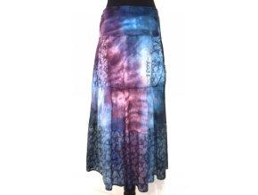 petrolejovo-fialová sukně s kapsami