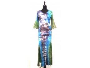 dlouhé úzké šaty s volánem