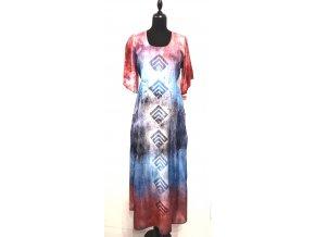 šaty s krešovaným rukávem a kapsami