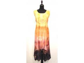 Asymetrické šaty bez rukávů