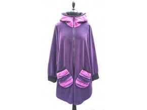 fialový kabátek pruhy