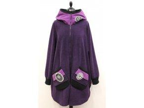 fialový kabátek kruhy