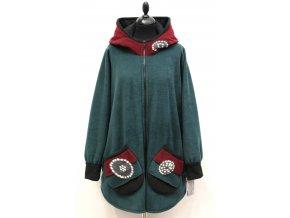 zelený kabátek kruhy