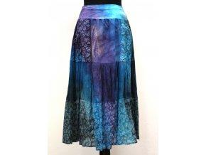 modrá volánová sukně
