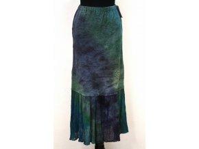 teplejší tyrkys sukně