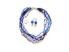 Hedvábný náhrdelník s ulitkami