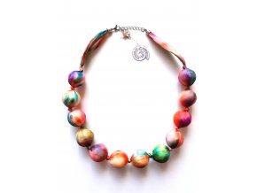Barevný kuličkový náhrdelník
