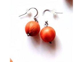 Hedvábné náušnice oranžové