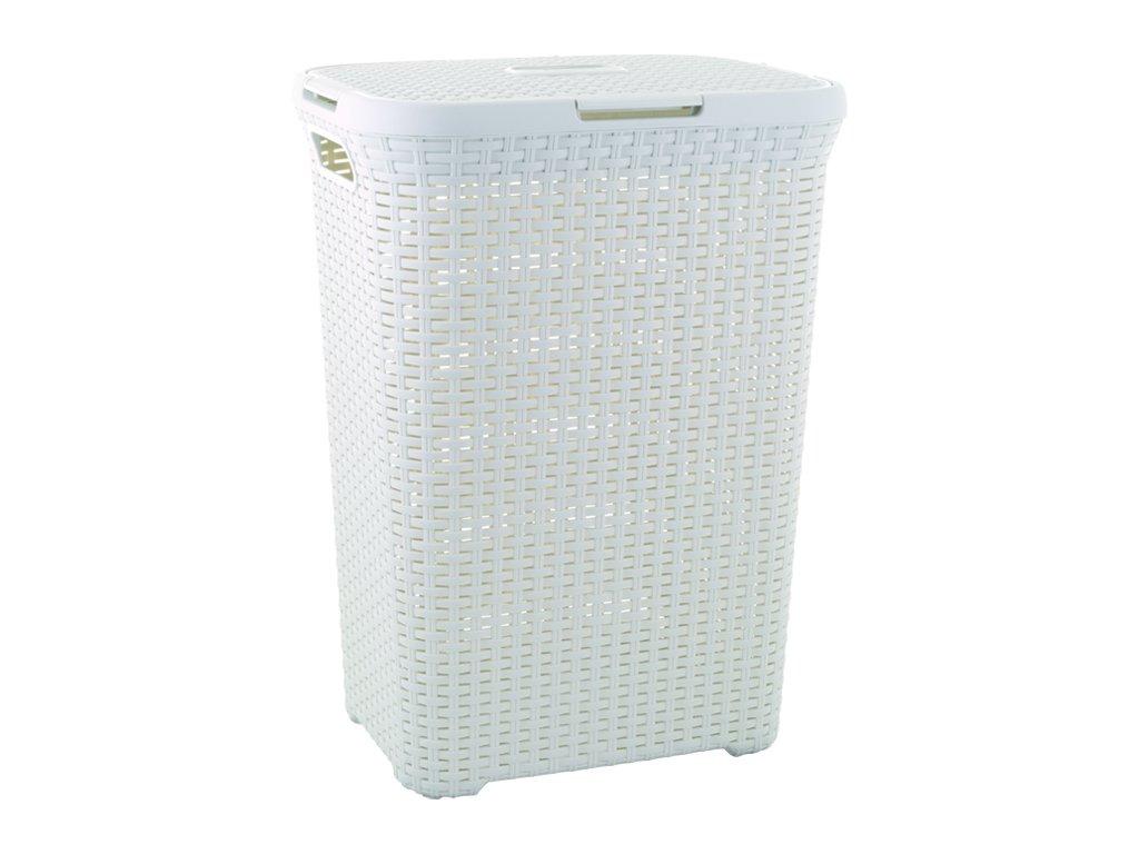 RATTAN STYLE 60L koš na prádlo - krémový