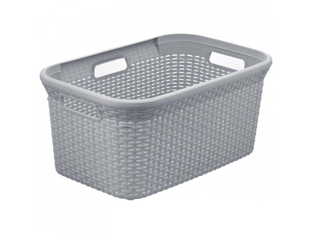 RATTAN STYLE 45L koš na čisté prádlo - šedý