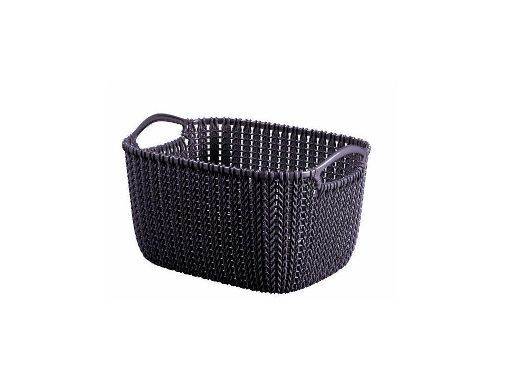 KNIT košík - 8L - fialová