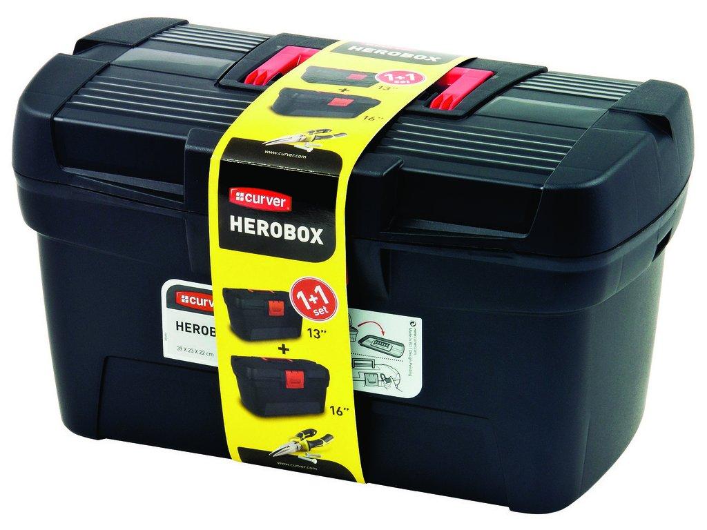sada kufrů na nářadí HEROBOX  16'' + 13''