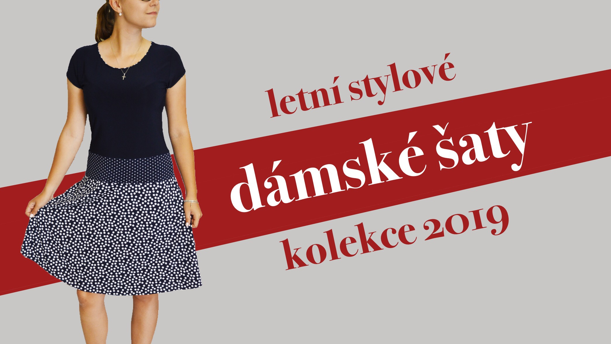 Letní stylové dámské šaty