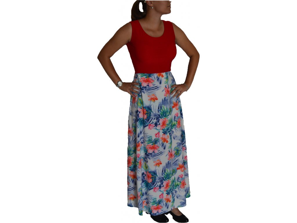 Šaty Sabatti dlouhé s květy