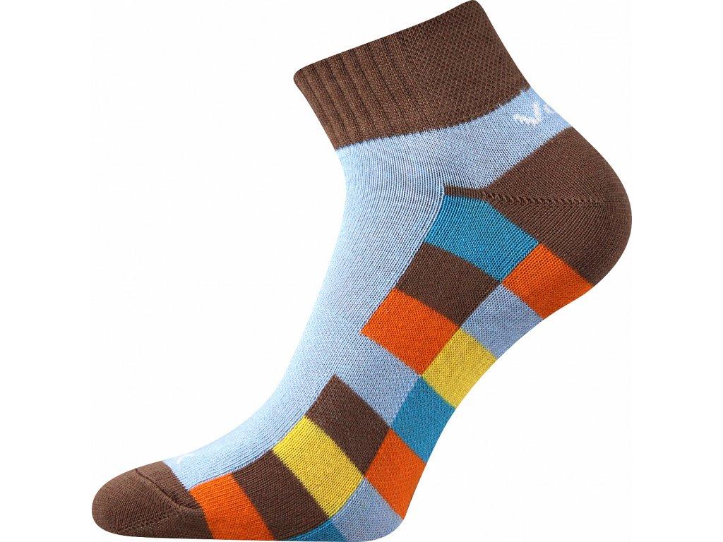 Ponožky voxx Kvadra modro-hnědé