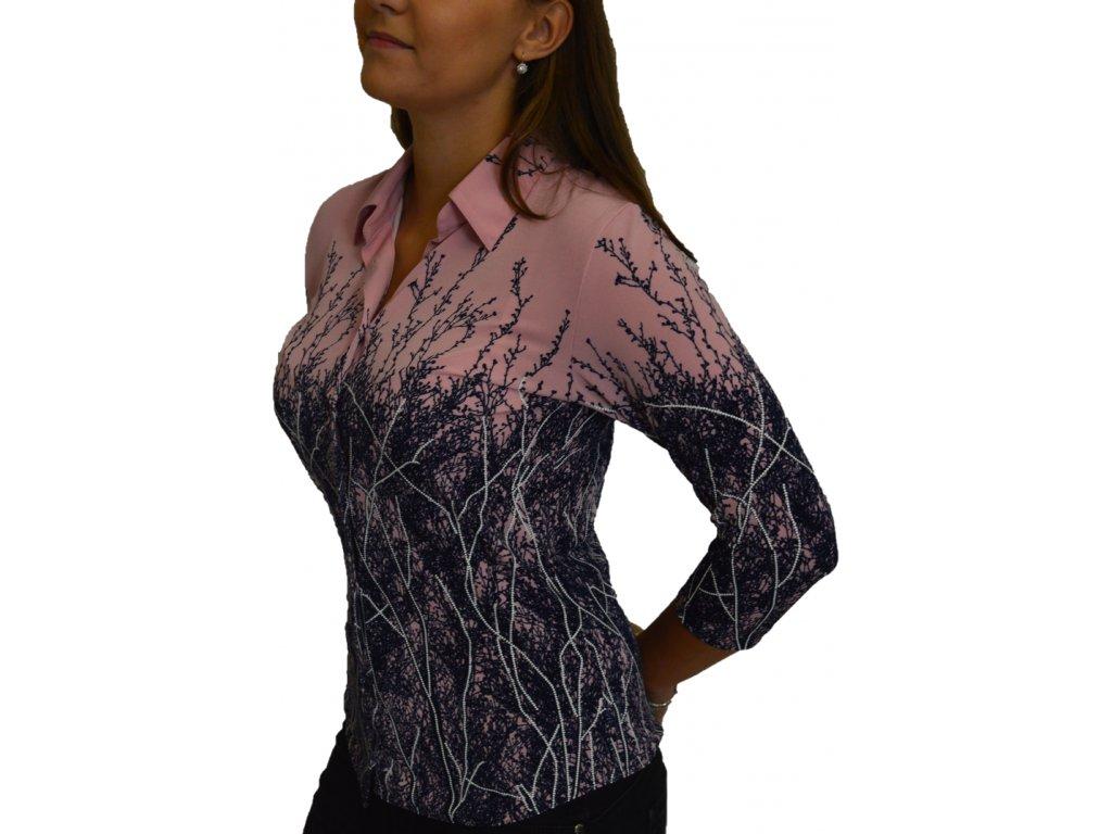 Košile Sabatti růžovo-fialová
